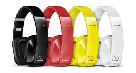 Hodetelefonene kommer i ulike farger.