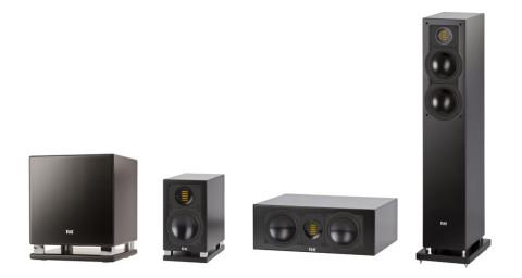 Elacs 190-serie: FS 197 i front, CC 190 senter, BS 192 bak og SUB 2030 til basskanalen.