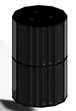 I standby-modus er Opera Only en lukket, 12-sidet sylinder.