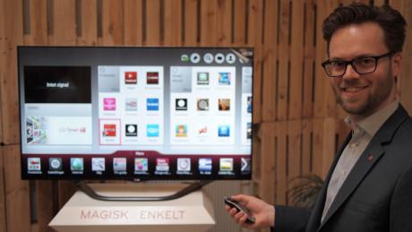 -Magic Motion fjernkontrollen er den absolutt beste måten å styre Smart TV-en din på, sier Thomas Wering, markedssjef for Home Entertainment hos LG.