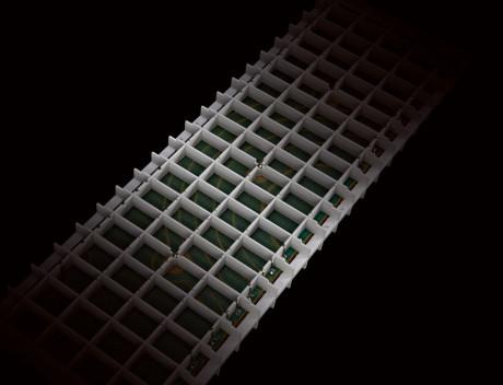 En av de seks panelene som styrer membranens bevegelser. Alle panelene får samme signal, men reagerer litt annerledes på det.