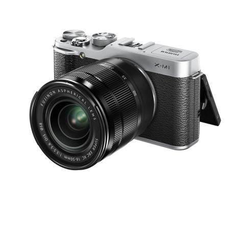 X-M1_Silver_Front_Left_16-50mm_Tilt_LCD