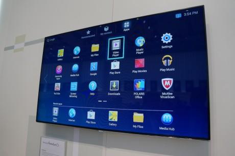 Home Sync-brukergrensesnittet burde virke kjent, hvis man er vant til Android på sin smartmobil eller nettbrett.