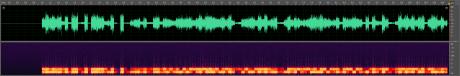En vannmerket sang er grafisk fremstilt i grønt. Under denne er vannmerket som er igjen, etter sangen er lagt i motfase mot originalen.