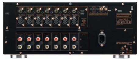 Effektforsterkeren Marantz MM8077 har sju forsterkertrinn, som alle kan kobles til enten med balansert XLR eller ubalansert RCA. 150 watt pr. kanal holder for de fleste.