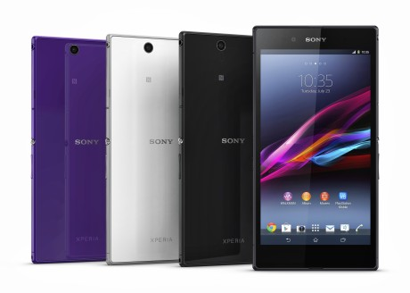 Sony Xperia Z Ultra fås i tre forskellige farger: Hvit, svart og lilla.