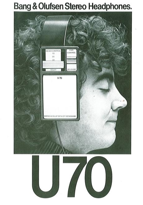 Bildetekst: Mye har skjedd siden Bang & Olufsens første hodetelefonmodell, U70.