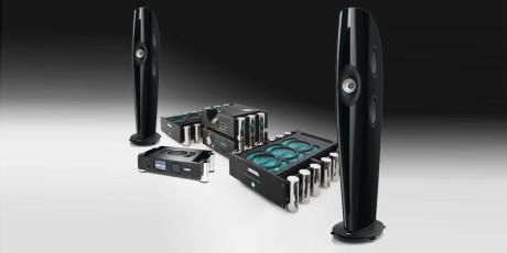 Det digitale anlegget har elektronikk fra Chord og høyttalerne Kef Blade.