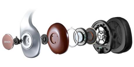 Slik er hodetelefonene konstruert, med den nye Free Edge Nano Fiber-membranene som nummer tre fra høyre.