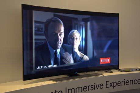 Samsungs UHD-modeller, her representert ved 65HU8505, vil støtte Netflix i 4K-oppløsning ved lansering.