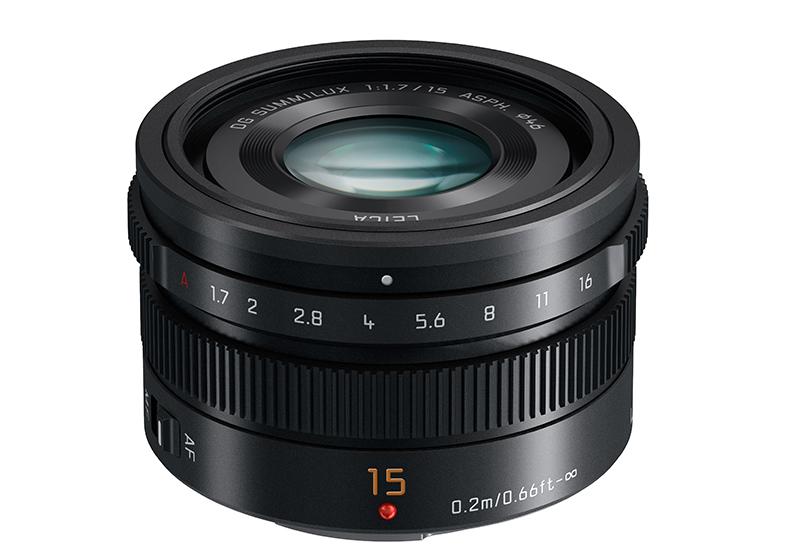 15mm-F1.7 ASPH lens (H-X015) Black slant