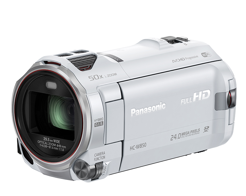 Panasonic Camcorder (W850) White slant
