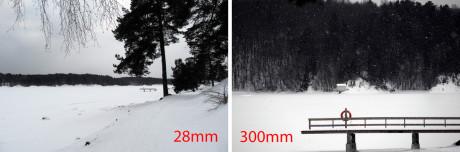 Så stor er forskjellen på 28mm vidvinkel og 300mm tele.