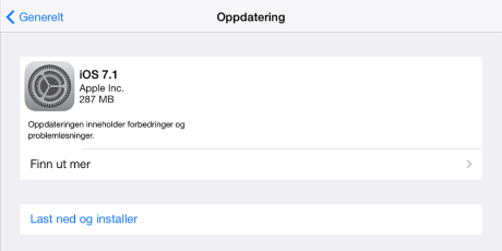 software update NO