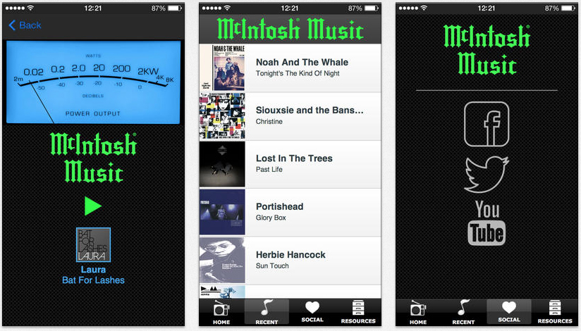 Mcintosh iphone player