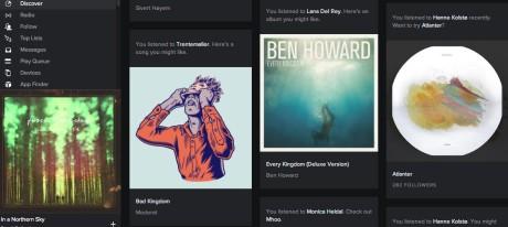 Discover-funksjonen foreslår musikk basert på annen musikk du hører på, med en mer oversiktlig presentasjon enn før.