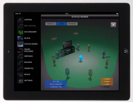 iControlAV2013 lar deg styre receiveren fra smartmobil eller nettbrett. iPad-versjonen er mest oversiktlig.
