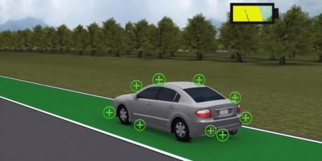 En egen fil lader elektriske biler med induksjon - under fart.