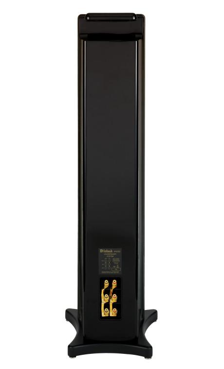 Glippen mellom topplaten og ryggen er for å gi plass til den oppadrettede bassporten.