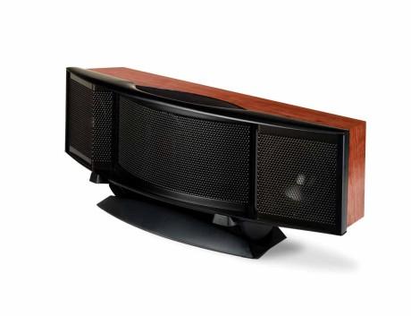 Senterkanalen C2 har to dynamiske bass/mellomregisterelementer og en Folded Motion diskant. De ovale bassportene er rettet fremover.