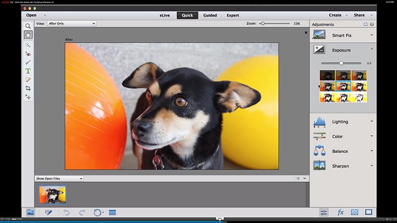 Photoshop Elements 13 skjerm