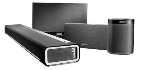 Det finnes flere ulike høyttalere til forskjellig bruk og ulike rom. Foto: Sonos