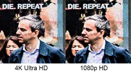 Hvis man skal zoome inn for å gjenkjenne ham, gjør det forskjell om filmen er fanget i 4K eller 1080p.