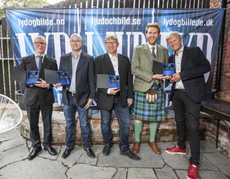 Årets AV-kilder: Isak Strand fra Ljudtema (importør av Pro-ject), Erik Becklund fra Duet Audio (Auralic), Oppo-importør Hans Hansen (Nobleman), og Colin Urie og Hans Christian Andersen fra Revo/Sahaga.