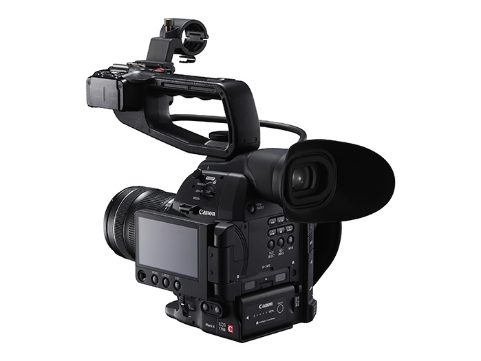 EOS C100 Mark II core lens2 grip