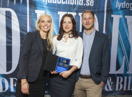 Årets film/TV-serie gikk til HBO for True Detective. Her representert ved Susanne Stiansen, Isabell Langvatn Goren og Håkon Vierdal.