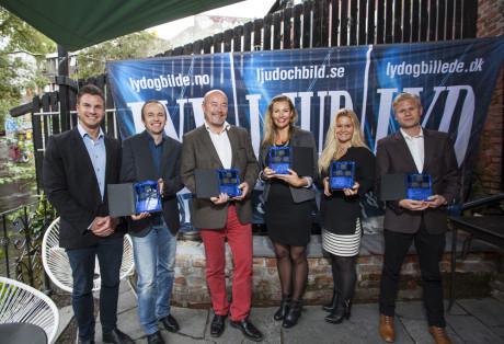 Årets kameravinnere: Arnt Wiseth og Jon Aasen fra Nikon, Rune Reiersen fra Focus Nordic (Pentax), Kristin Sveinsson fra Sony, Annika Johansen og Stefan Fält fra Olympus.