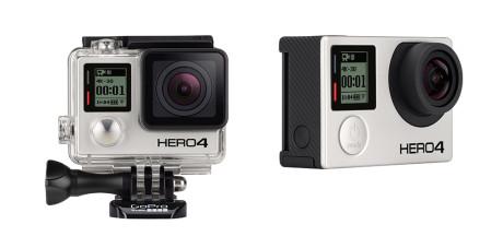 Snart kan vi få GoPro-droner med innebygd kamera. Her Hero 4 Black Edition.