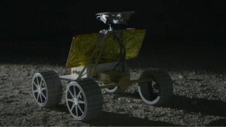 Simluert månebilde av roboten Andy.