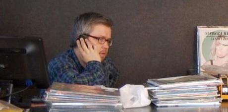 Andreas Leine Jakobsen, daglig leder av Big Dipper, bekrefter økende vinylsalg også i Norge. Foto: Facebook-profilbilde.