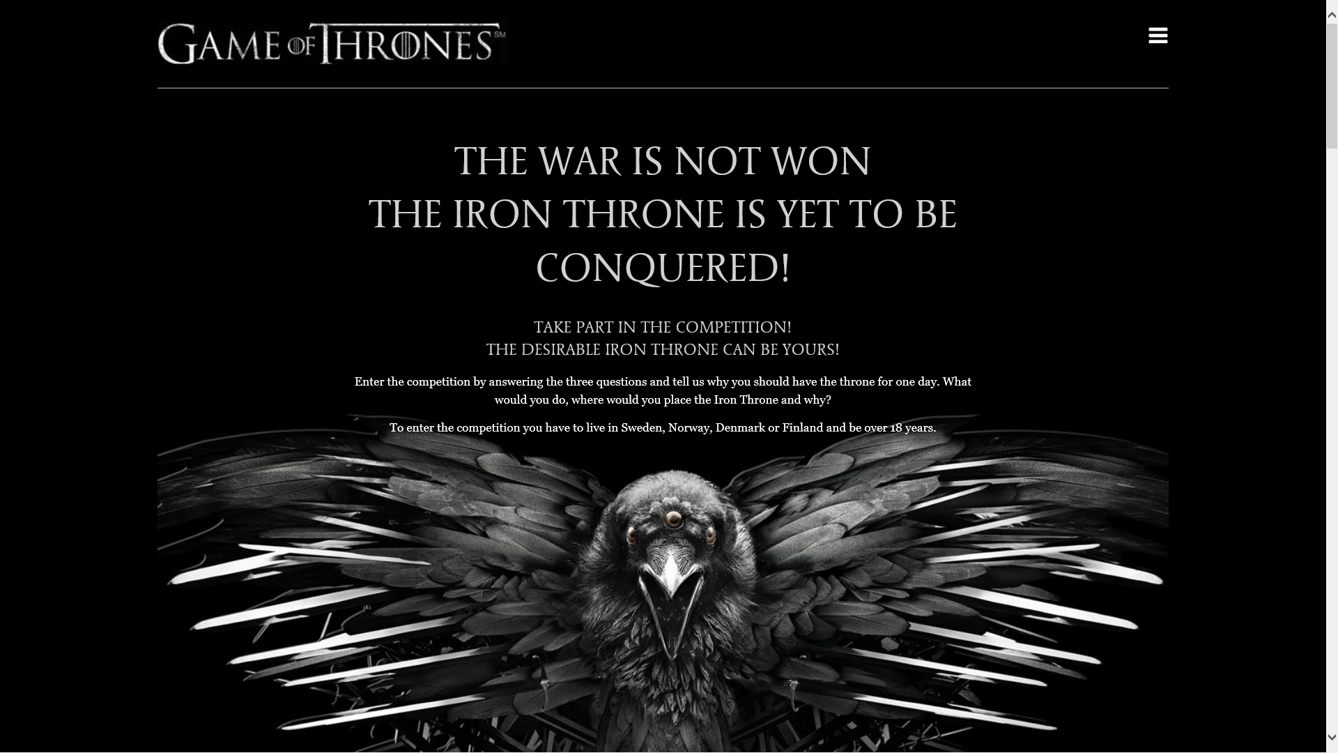 Game of Thrones, konkurranse