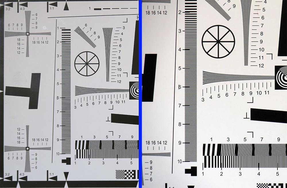 Til venstre 24mm og f2,8, til høyre 600mm og f11.