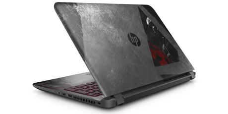 PC-en har en design som ser ut som om den har blitt slitt i kamp.