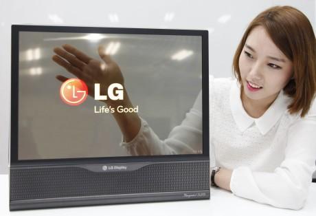 """Skal det være en transparent OLED-TV? LG har utviklet OLED-paneler med opptil 30% lyssgjennomslipp, og """"gjennomsiktigheten"""" øker stadig."""