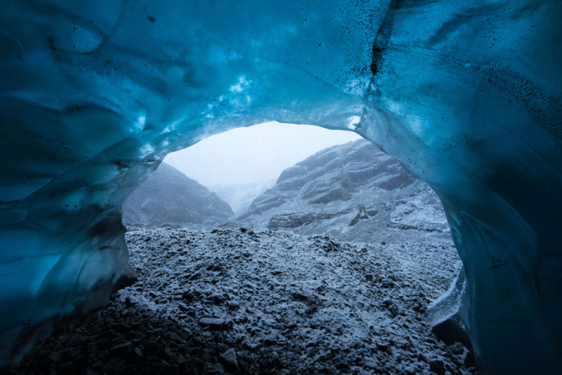 Photographer Mikael Buck explored the frozen world of Vatnajˆkull glacier in Iceland using Sonyís world first back-illuminated full-frame sensor