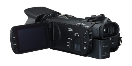 XA30 har ikke HD/SD-SDI-terminal, og er dermed også noe rimeligere enn XA35, da det mangler (Foto: Canon)
