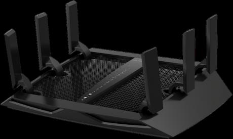 Netgear Nighthawk X6 R8000 er en av de beste ruterne på markedet, med en teoretisk hastighet på 1,3 Gbit/s på hvert av to 5 GHz-bånd. Foto: Netgear