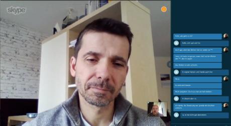 Når man snakker, vil Skype Translator også ha det talte ord som tekst i skjermbildets høyre side. Foto: Peter Gotschalk, Lyd & Bilde