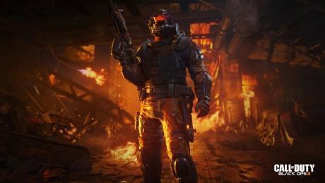 """Flammekasteren brukes i Call of Dutu: Black Ops 3 av karakteren """"Firebreak"""". Foto: Treyarch"""