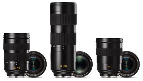 Av de tre annonserte objektivene, er det bare Vario-Elmar SL 24-90mm f2.8-4, som er tilgjengelig. Vario-Elmar SL 90-280mm f2.8-4 og Summilux SL 50mm f1.4 Asph, er ikke tilgjengelig før senere i 2016. (Foto: Produsenten)