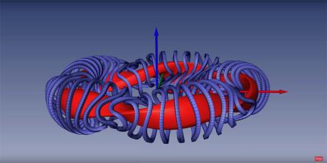Magneter slynger seg rundt i et spesielt mønster - som en skulptur. Illustrasjon: Skjermdump fra Science Magazines video