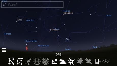 Du kan også få frem stjernebildene. (Foto: Stellarium)