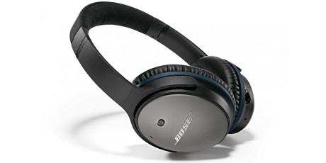 Bose QuieComfort 25 er meget effektive i å kansellere støy utenfra. Men lydkvaliteten ellers er middelmådig. Hvem vet - kanskje vi kan droppe dem når flyene blir elektriske? (Foto: Bose)