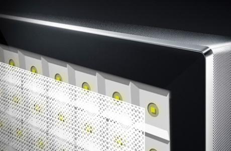 Baklyset på DX900 er delt inn i avgrensede soner som skal hindre lysblødning. (Illustrasjon: Panasonic)