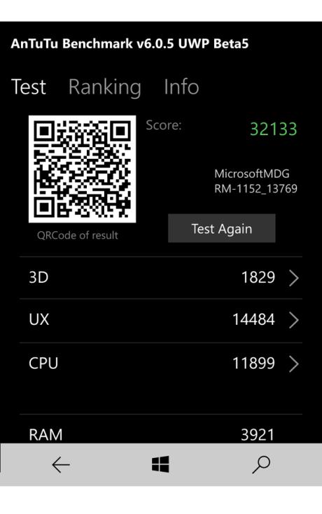 Lumia 650 klarer seg bedre enn forgjengeren i Benchmark-testen, men det kan vi ikke merke noe til i det daglige. Snarere tvert imot.
