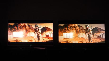HDR gir betydelig mer dynamikk i lyse partier, som her i refleksjoner av sollys. Den generelle lysstyrken er veldig lik vanlig Blu-ray med standard dynamikkområde. Foto: Audun Hage
